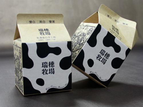 瑞穗牧場-牛奶盒